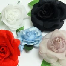 Pack of 10 Vintage Fabric Roses